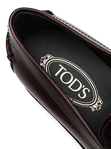 Tods Mocassini In Pelle Spazzolata Rosso Xxm0ud0k130akt
