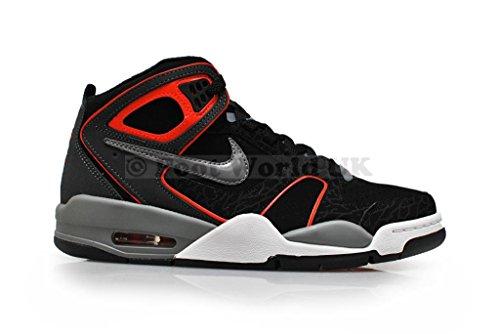 Nike Men 's–Air vuelo Falcon, color negro, gris y rojo