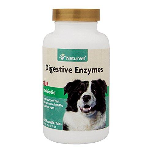 NaturVet Digestive Enzymes with Probiotics -- 60 Chewable Tablets