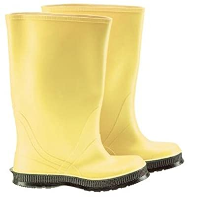 """Bata Shoe 88060-09 Onguard Industries Size 9 Slicker Yellow 17'' PVC and Flex-O-Thane Overboots with Self-Cleaning Cleated Outsole, English, 15.34 fl. oz, Plastic, 5.13"""" x 17"""" x 12.3"""": Industrial & Scientific"""