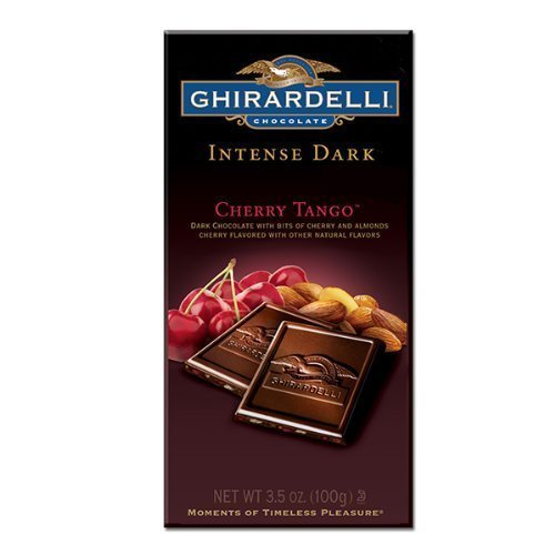 Ghirardelli Cherry Tango Intense Dark Chocolate Bar 3.5oz (6-pack) by Ghirardelli