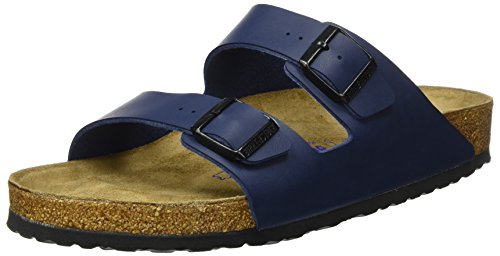 Birkenstock Unisex Arizona Blue Birko Flor Sandals - 13-1...