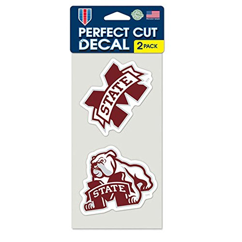 WinCraft NCAA Mississippi State University Perfect Cut Decal (Set of 2), 4