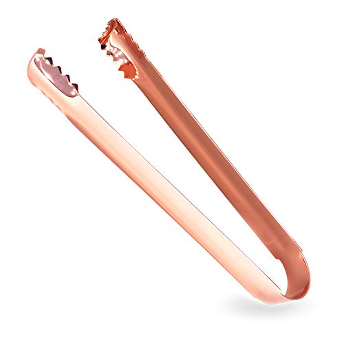 Rose Gold Stainless Steel Ice Tongs for Kitchen Tongues Food Folder and Ice Clip 6.5-inch Mirror - Sugar Tongs Rose