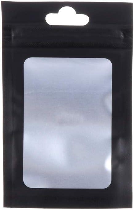 20pcs Plastic Aluminum Foil Holographic Lock Bags Small Food Grade Pouches