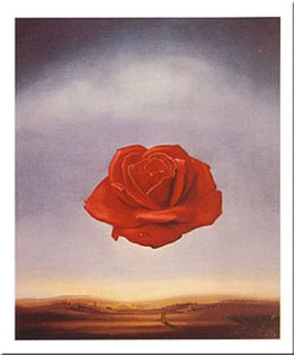 (Buyartforless Rose Meditative by Salvador Dali 31x24 Art Print Poster)