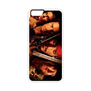 Pirates of the Caribbean iPhone 6 Plus 5.5 Inch Cell Phone Case White L2992097
