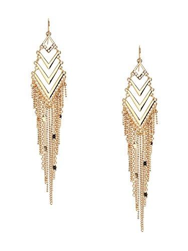 Guess Designer Earrings - GUESS Women's Shevy Gold-Tone Fringe Drop Earrings