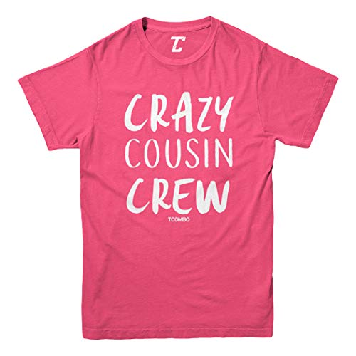 Crazy Cousin Crew - Cute Funny Youth T-Shirt (Pink, Medium)