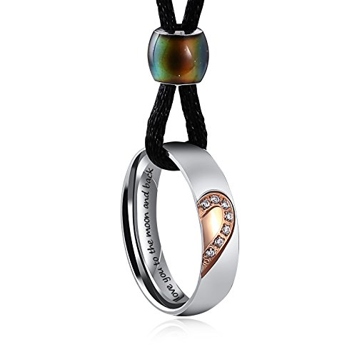 Aienid Necklace for Mom Stainless Steel Love Heart Pendant Necklace for ()