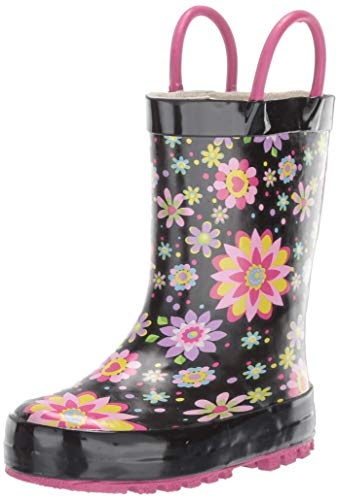 Floral Western Boots - Western Chief Girls' Waterproof Printed Rain Boot, Floral Twirl, 5/6 Medium US Toddler