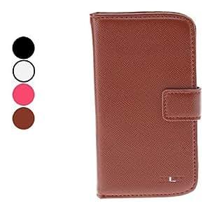 CECT STOCK Elegante estuche de cuero de la PU de cuerpo completo con ranura para tarjeta y soporte para Samsung i9300 Galaxy S3 (colores surtidos) , Negro