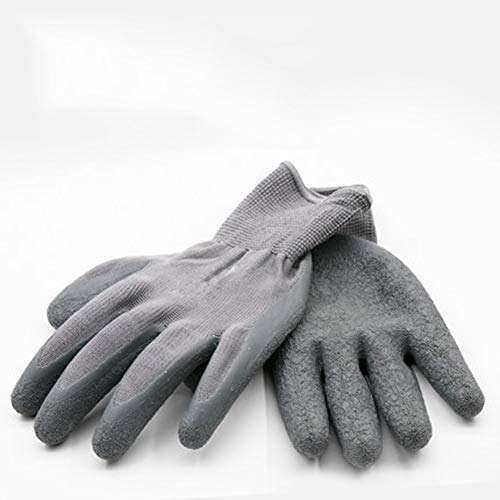 AINIYF Garden Gloves For Women And Men - (10 Pairs Per Package) - With Special Protective Coating Against Cuts For Gardening - Fishing - Auto And Work Activities (Color : Gray) by AINIYF (Image #1)