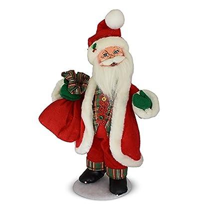 882e85f8d4f24 Amazon.com  Annalee 15in Plaid Tidings Santa  Home   Kitchen