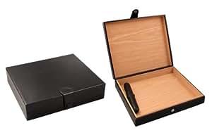 "Visol Products VHUD401 ""Zino"" Travel Humidor, Holds 16 Cigars, Black Leather"