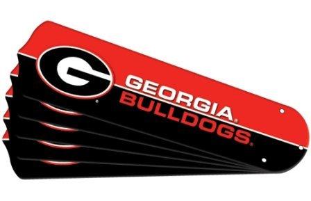 Ceiling Fan Designers 7990-UGA New NCAA GEORGIA BULLDOGS 52 in. Ceiling Fan Blade Set by Ceiling Fan Designers