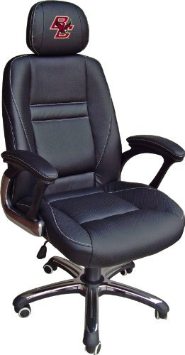 NCAA Boston College Eagles Leather Head Coach Office Chair by Wild Sports by Wild Sports