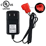 【UL Listed】 6V Kids Ride On Car Charger, Battery Charger for BMX X6 Kid TRAX Disney GMC Dinsney Wal-Mart Kid TRAX Moto ATV Quad Disney Ride On Car Red Square Plug