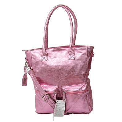 a1db308a51c5e Glamour XL Schultertasche in rosa Metallic Shopper Handtasche Tasche von  Benetti