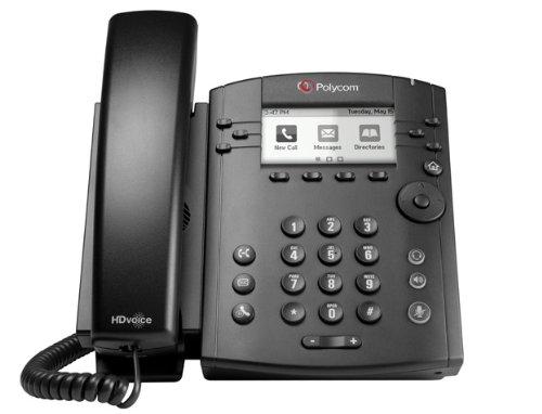(POLYCOM 2200-46161-025-OB VVX 310 6-line Desktop Phone Gigabit Ethernet with HD Voice - Po )