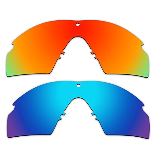 2 Pair ACOMPATIBLE Replacement Polarized Lenses for Oakley Industrial M Frame 2.0 Sunglasses OO9213 Pack - 2 Oakley Frame M