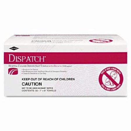 Dispatch 69101 Hospital Cleaner Disinfectant Towel with Bleach (50 Count) by Clorox