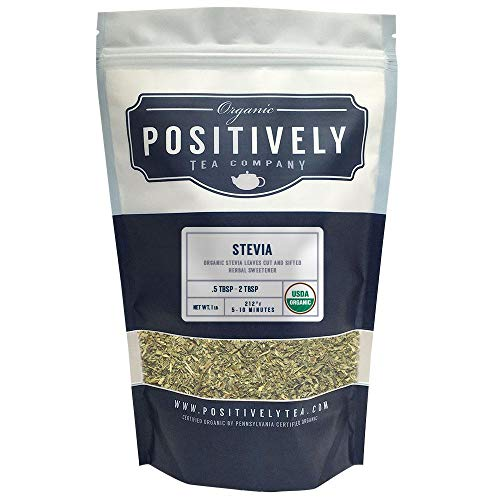 Positively Tea Company, Organic Stevia Leaf, Herbal Tea, Loose Leaf, USDA Organic, 1 Pound Bag