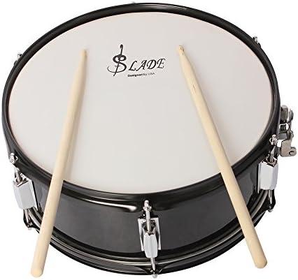 ammoon Profi Snare Drum Head, 35,6 cm (14 Zoll), mit Trommelstock, Schlagzeugschlüssel, Schulterriemen für die Schülerband schwarz