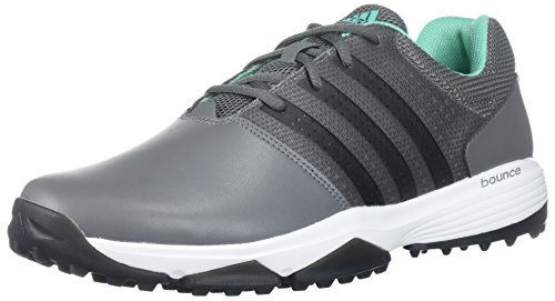 adidas Men's 360 Traxion Golf Shoe, Grey Four/CORE Black/HI-RES Green, 9 M US by adidas