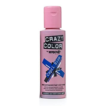 Crazy Color Capri Blue Nº 44 Crema Colorante del Cabello Semi ...
