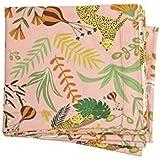 Toalha de Mesa M Coleção Especiarias Acervo Panelinha Estampado Fundo Rosa (Pimenta-Rosa) 2,70 x 1,50 Algodão