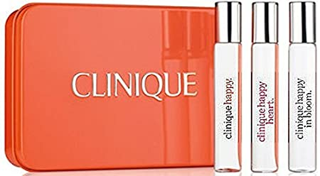 Clinique A Little Happiness set of 3 Perfumes: Happy, Happy at Heart & Happy in Bloom. Travel Size
