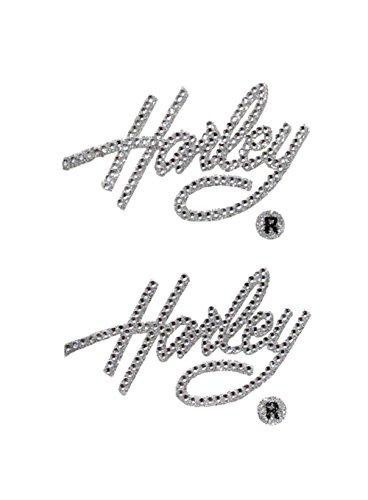 Harley-Davidson Harley Script Gemz Bling Inside Decal Kit (Harley Davidson Bling Parts)