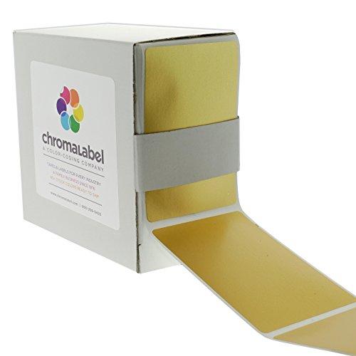 ChromaLabel 2 x 3 inch Color-Code Labels | 250/Dispenser Box (Metallic Gold)