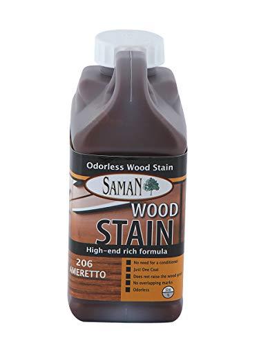 SamaN TEW-206-32 1-Quart Interior Water Based Stain for Fine Wood, Amaretto