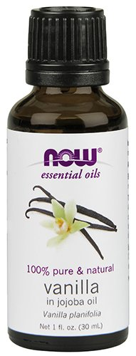 NOW  Natural Vanilla (In Jojoba Oil), - Pure Jojoba Oil Now Foods