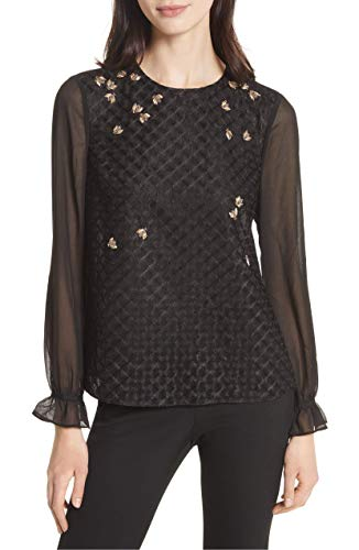 Ted Baker London Queen Bee Embellished Top Black