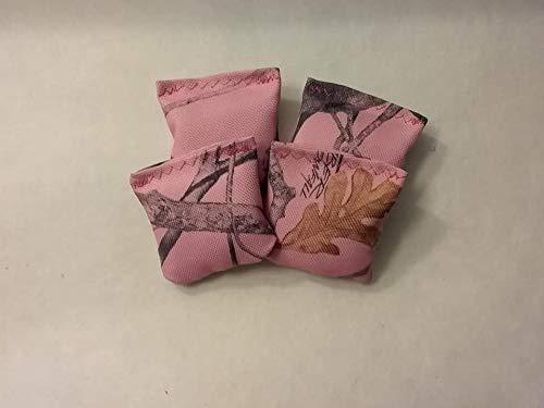 2 Bean Bag Toss Mini Cornhole Pink Camo Replacement bags Set of 4