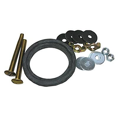 LASCO 04-3815 Toilet Tank To Bowl Bolt Kit for Eljer Brand with Bolts, Washers, Hex and Wing Nuts and TxB Gasket