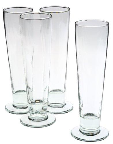Libbey Stockholm Pilsner Glasses, Set of 4