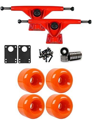 製造業ビジターシロクマRKPレッドLongboardトラックホイールパッケージ62 mm x 52 mm 88 a 021 Cオレンジ [並行輸入品]