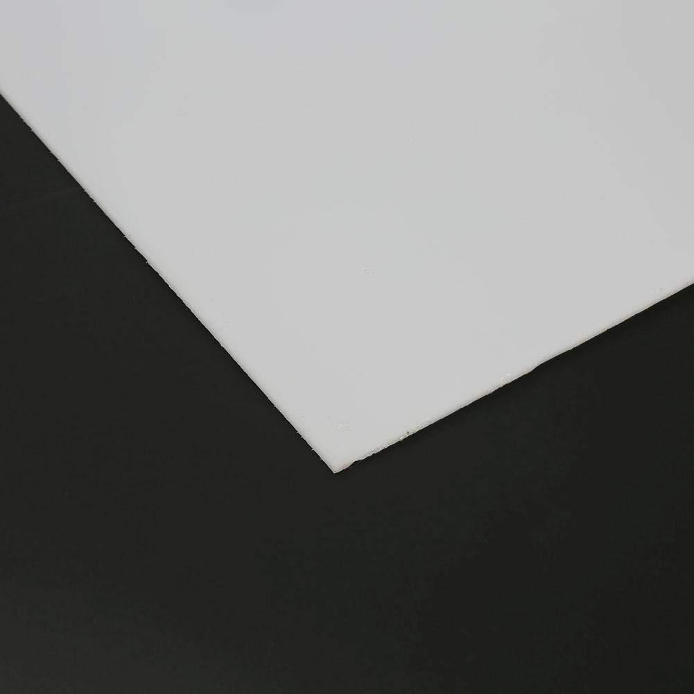 FTVOGUE 2x300x300mm Panneau de Polyoxym/éthyl/ène Blanc Feuille de Plaque de Plastique dIng/énierie Construction Brute