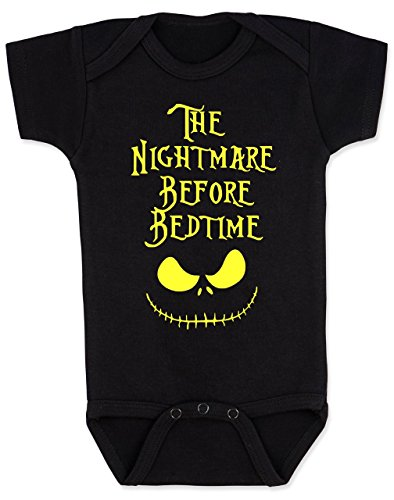 Vulgar Baby Bodysuit, Nightmare Before Bedtime, 6-12 MO, (Time Baby Onesie)