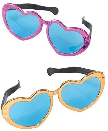 Jumbo Metallic Heart - Uk Sunglasses Heart