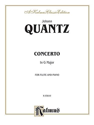 Flute Concerto in G Major (Orch.) (Kalmus Edition)