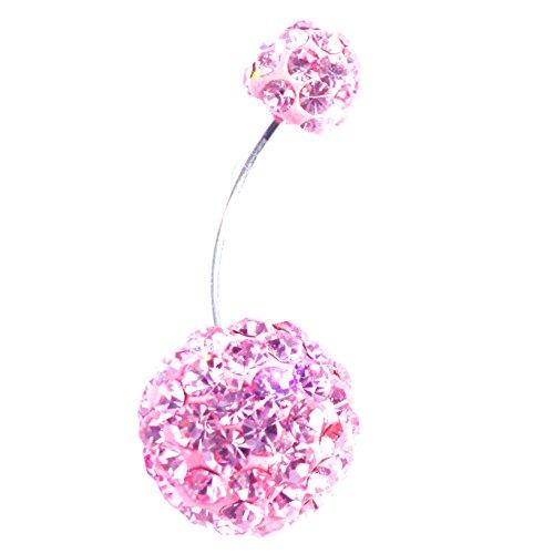 DEDEGUI Silver Bar Pink Blue Gems