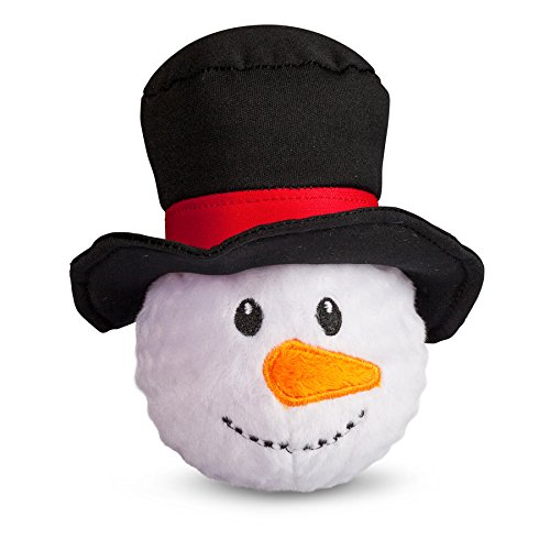Image of fabdog Snowman faball Squeaky Dog Toy (Small)