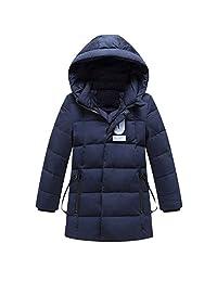 iikids Kids Boys/Girls Long Puffer Snowsuit Hooded Winter Outwear