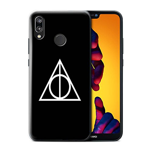 STUFF4 Phone Case/Cover for Huawei P20 Lite/Black Design/Magic Hallows Inspired Collection
