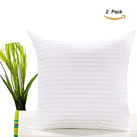 Monkeysell white stripe cloth with zipper vacuum compression Pillow Insert Square Form Polyester 20